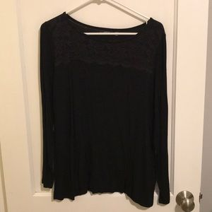 Apt 9 long sleeved black tee with lace